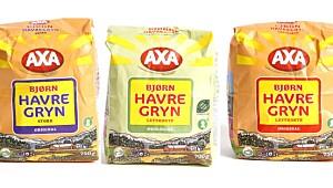 Axa Bjørn Havregryn, Lettkokte/Store/Økologisk
