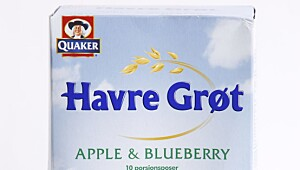 Quaker Havregrøt Apple & Blueberry, porsjonspakker