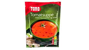 Toro tomatsuppe med mozzarello og urter