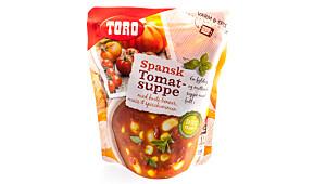 Toro spansk tomatsuppe med hvite bønner, mais og spisskummen