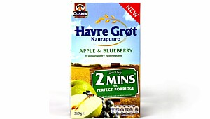 Quaker Havregrøt Apple & Blueberry