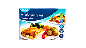 Coop Fiskegrateng Torsk og bacon