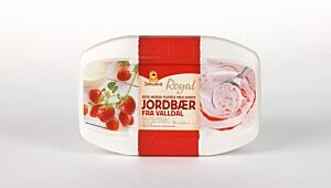 Diplom-is Royal jordbær fra Valldal