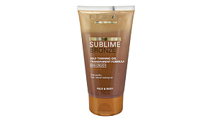 L'Oréal sublime bronze self-tanning gel