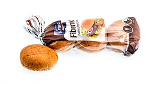 Fiberrikt hamburgerbrød