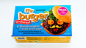 Mr Burger m/brød