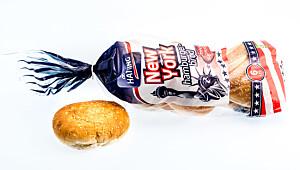 New York hamburgerbrød med sesamfrø