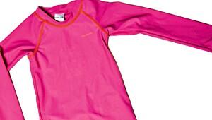 Todelt dress i polyamid/elastan fra Polarn O. Pyret. UPF 50+