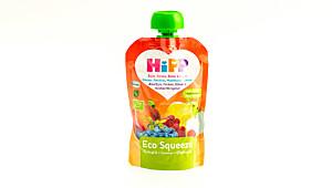 Hipp Eco Squeeze – Eple, fersken, blåbær og bringebær