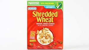 Nestlé Shredded Wheat Bringebær Jordbær Tranebær