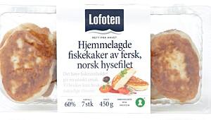 Lofoten hjemmelagde fiskekaker av fersk, norsk hysefilet