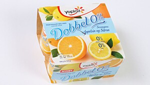Yoplait Dobbel 0% Sitron