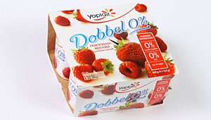 Yoplait Dobbel 0% Bringebær