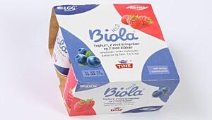 Mild Biola yoghurt Blåbær