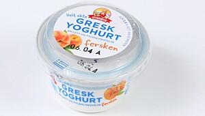 Gresk yoghurt Fersken