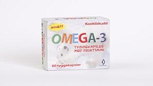 Omega-3 barn tyggekapsler med fruktsmak