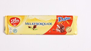 Melkesjokolade med Daim