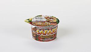 Safari Jordbæryoghurt med müslifigurer