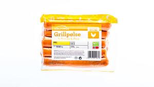 Solvinge grillpølse av kalkun og kylling