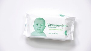 Trygt produkt: Vaskeservietter Aloe Vera