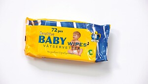 Trygt produkt: Kungh sensitive baby wipes
