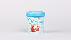 Dream Yoghurtis jordbær & yoghurtflakes greek style