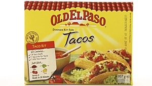 Old El Paso Dinner Kit For Tacos.