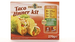 Poco Loco Taco dinner kit.
