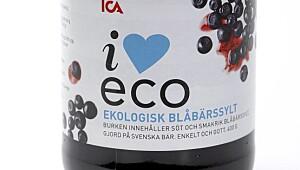 Ica I love eco økologisk blåbærsyltetøy