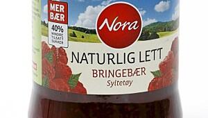 Nora naturlig lett bringebærsyltetøy