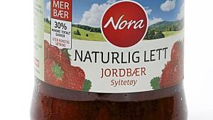 Nora naturlig lett jordbærsyltetøy