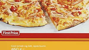 FirstPrice Pizza m/skinke, ost og paprika