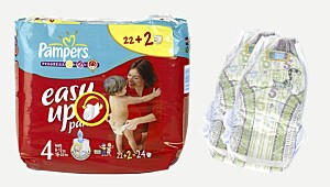 Minst likt av brukerpanelet: Pampers Easy up
