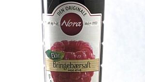 Nora Bringebærsaft med drue