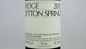 Ridge Lytton Springs 2012