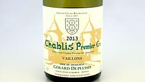Duplessis Chablis Premier Cru Vaillons 2013