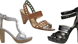 40 høyhælte sandaler