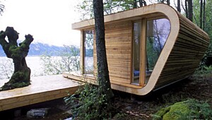 Kubeformet hytte på 20 kvadrat