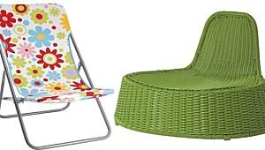 Smarte og fargerike produkter til terrassen