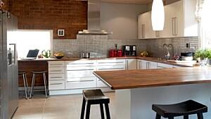 Større plass på kjøkkenet