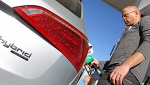 Grønn SUV på lystgass