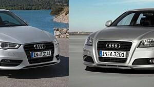 Splitter ny mot to år gammel Audi A3