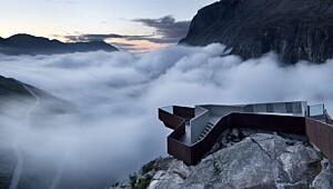 Dette utsiktspunktet i Trollstigen har vunnet flere arkitekturpriser