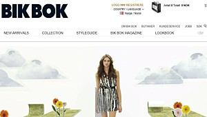 Test av nettbutikken Bikbok.com
