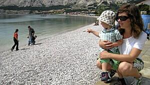 Baska på Krk i Kroatia