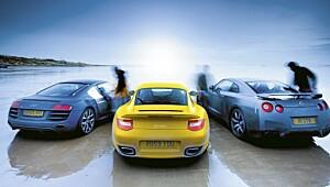 Trippelduell med de råeste superbilene