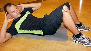 Crunch er øvelsen som tar magemusklene