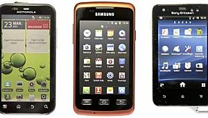 Telefonene har vært utsatt for kulde, regn og svette
