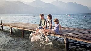 Gardasjøen med barn